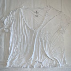American Eagle Outfitters Tops - AMERICAN EAGLE White Soft & Sexy Tee
